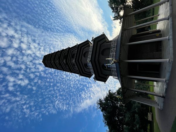 The Great Pagoda of Kew a different perspective! Kew Gardens  Richmond London England