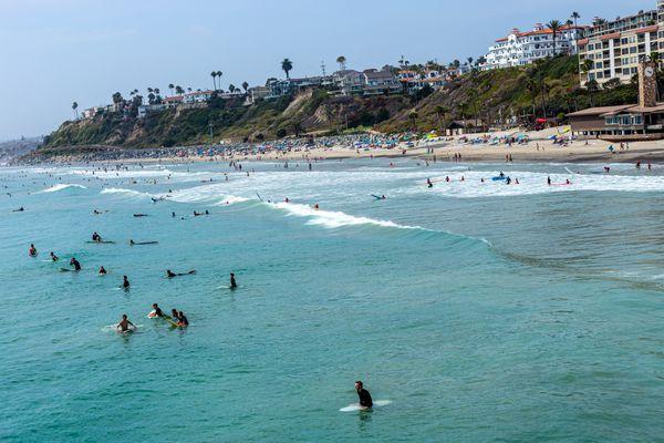 Surfing in San Clemente