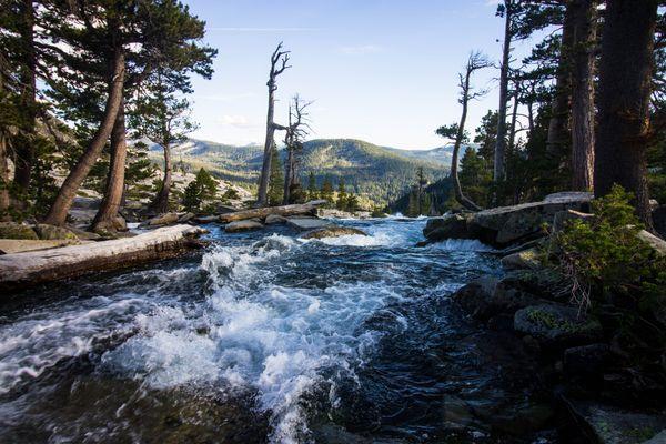 Rushing River in Tahoe