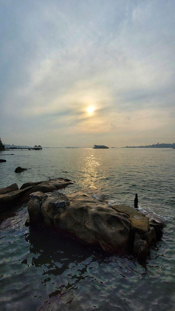 Morning sunrise on island