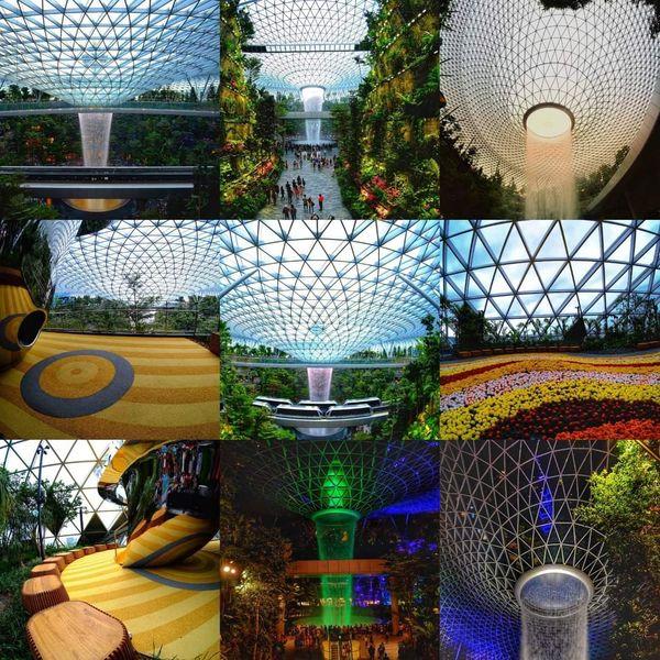 Collage photo of changi airport jewel