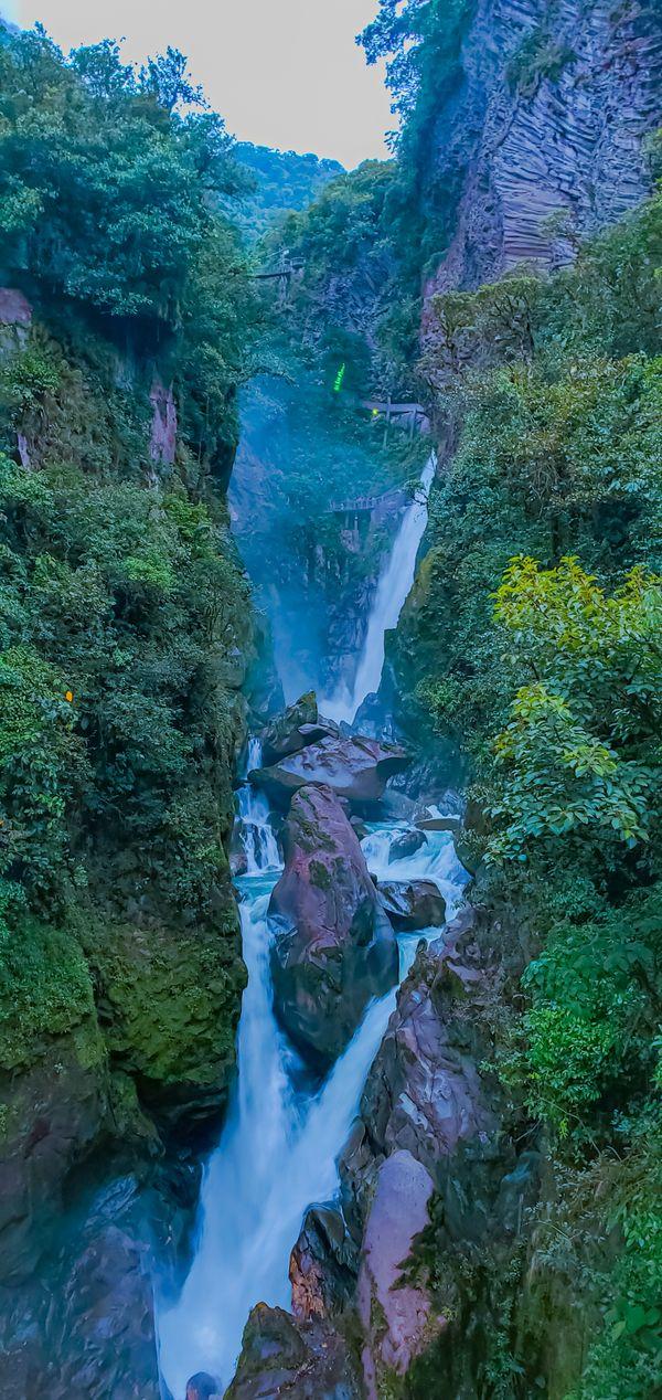 Waterfall  Pailon of Diablo