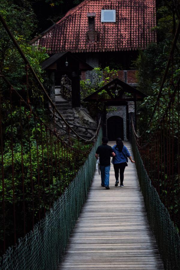 Couple in love on The bridge