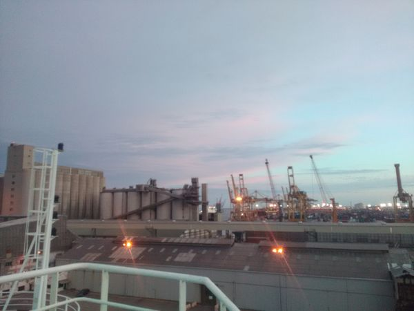 View of the port from the ship