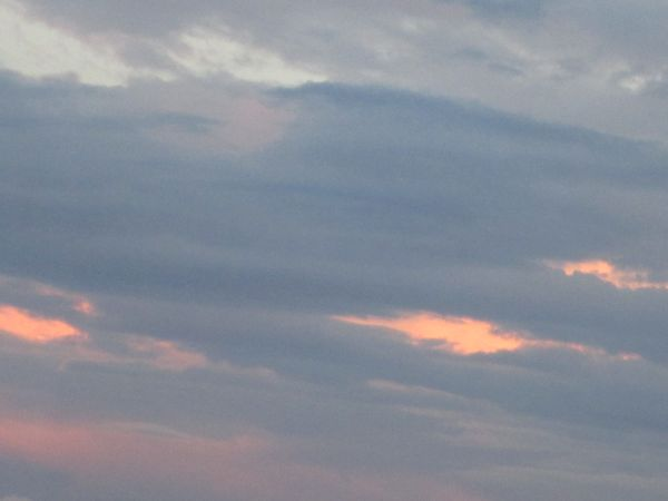Orange and cloudy sky