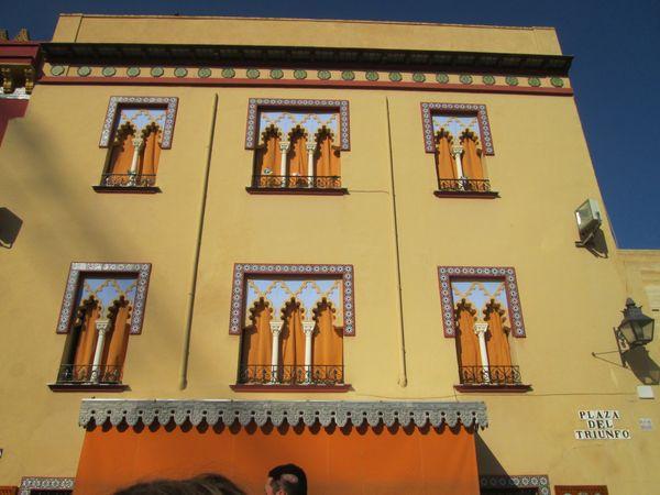 The façade of a Spanish palace