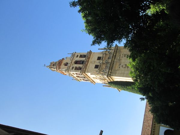 A bell tower in Spain