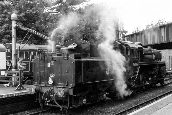 Steam train by Clive Wells