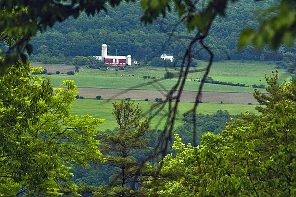 Country Farm House in New York State, USA