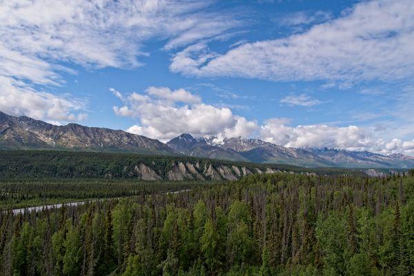Matanuska River Valley and Chugach Mountains