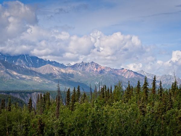 Matanuska valley to Chugach Mountains, Alaska, USA