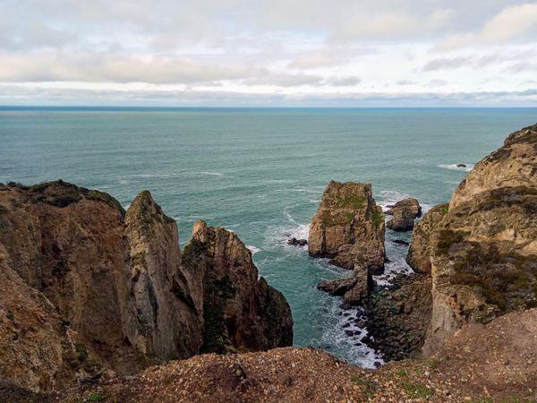 A long way down. Cliffs of Cornwall.