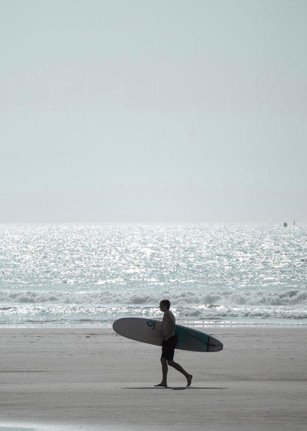 Saw a surfer at the beach
