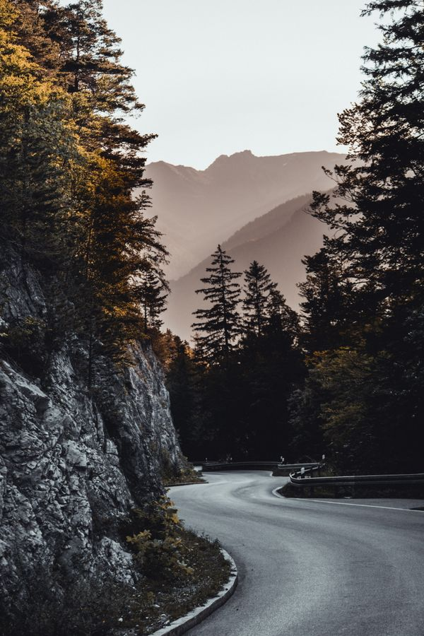 Beautiful street in the middle of mountains