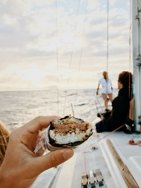 Travel sailboat ocean snack