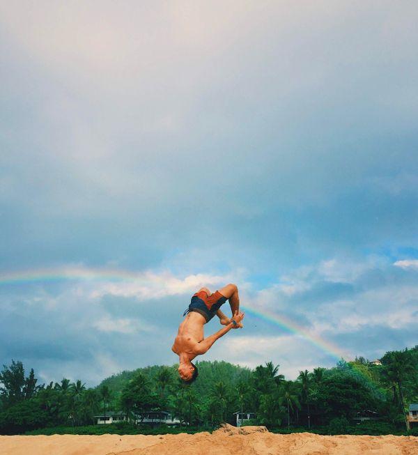Beach Rainbow flip