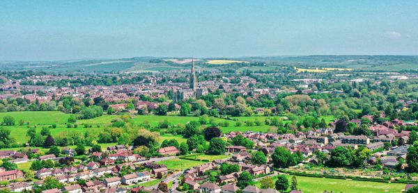Salisbury cathedral aerial