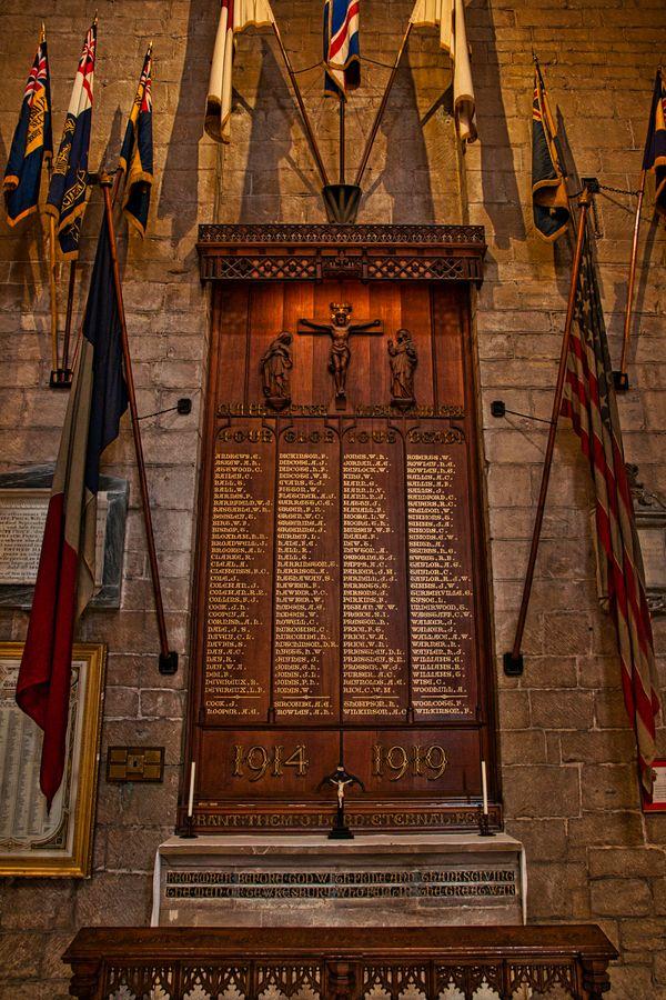Great War Memorial, Tewkesbury Abbey