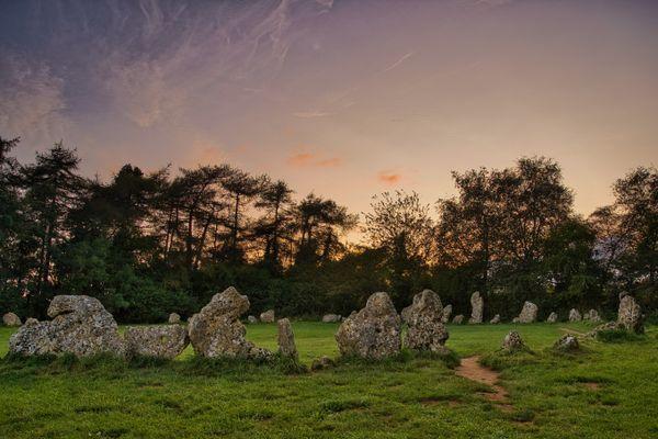 Rollright Stones, Sunset
