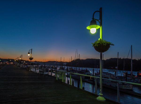 Sunrise on the Boardwalk Florence Oregon