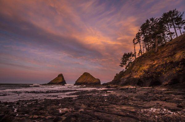 Sunrise at Heceta Head Beach Oregon Coast