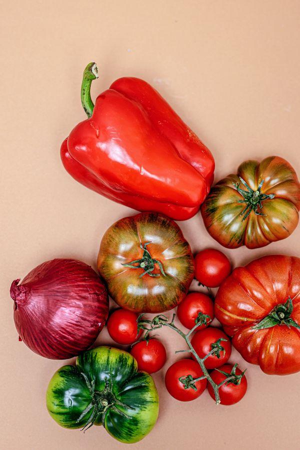 A closeup shot of vegetables