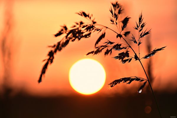 When the sun sets.