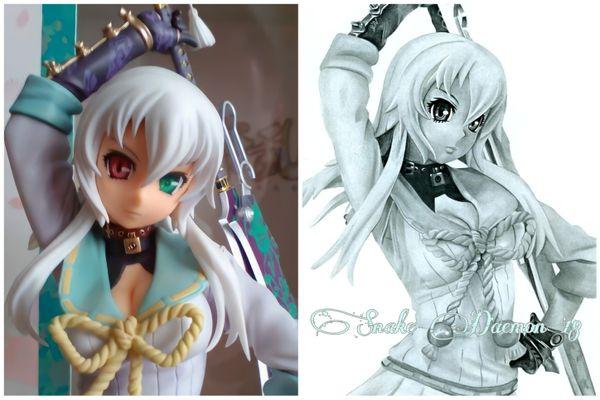 Gisen yagyu - figure/drawing comparison