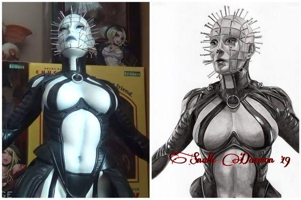 Hell priestess - figure/drawing comparison