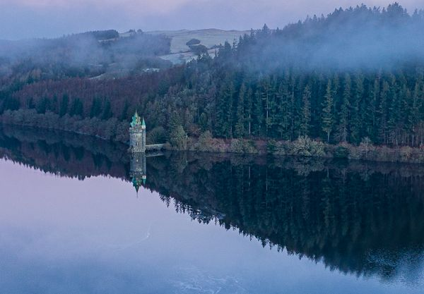Water Straining Tower at Lake Vyrnwy, Oswestry. Princess Tower