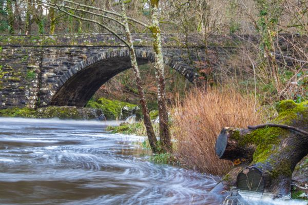 River in flood, Wales