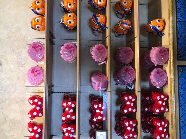 Japanese Disney Store Popcorn Holders