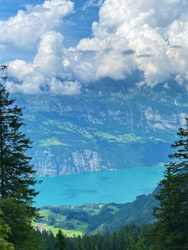 Overlooking of Walensee from Flumserberg (2)