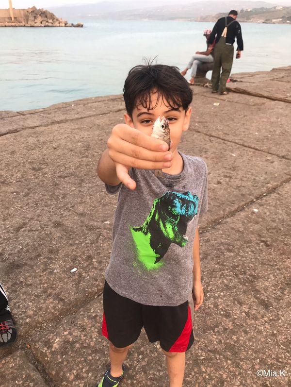 Child Caught a fish