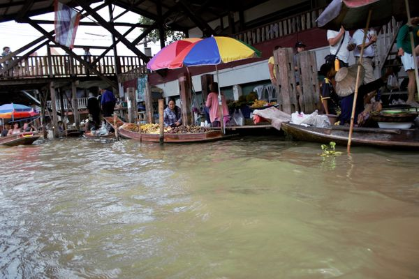 Kwai river in Thailand