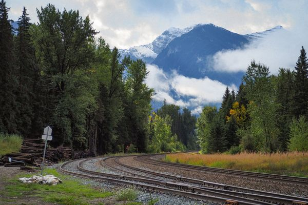 Tracks into the mountains