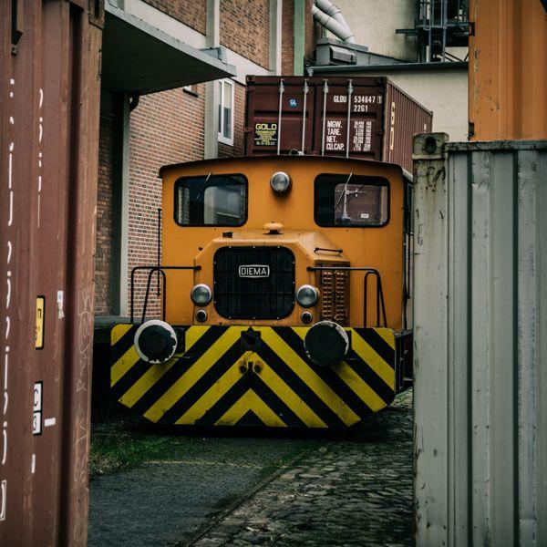 Train between container