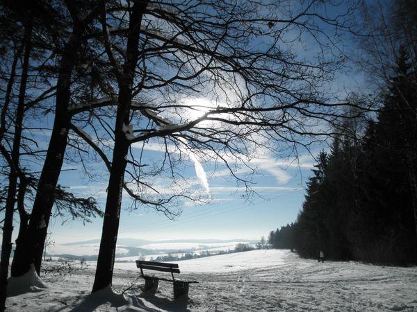 Schneebedecktes Erzgebirge
