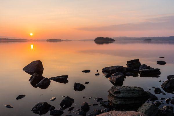 Hazy Sunset On Lough Erne