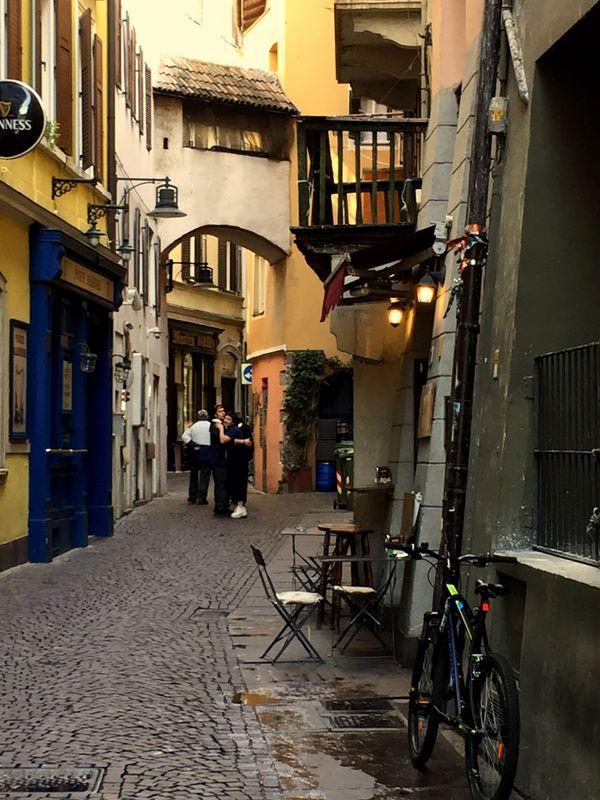 Alley in Bolzano, Italy