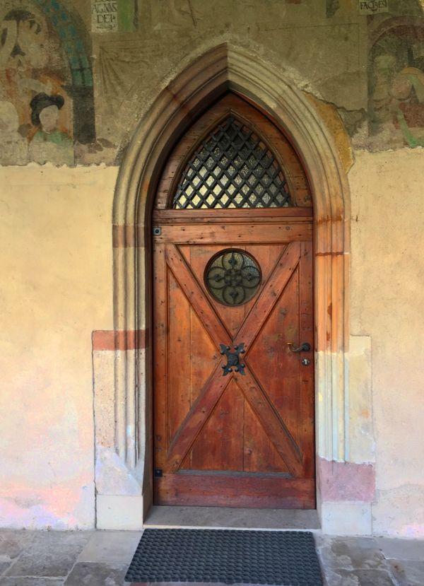 Church door in Italy