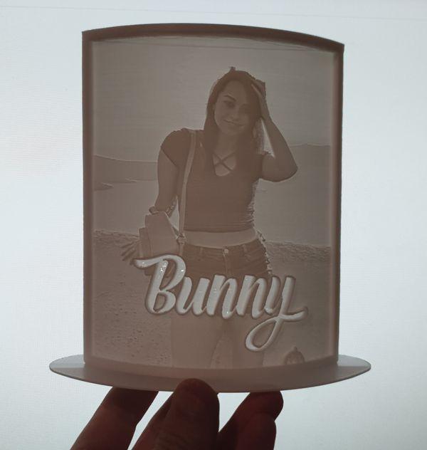 BunnyGirl Lithophane Test