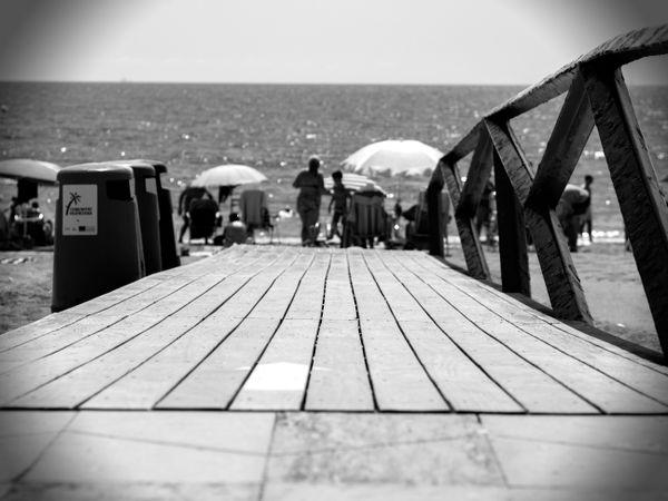 Vinaros Beach B&W