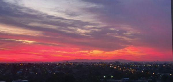 Fiery Melbourne sky