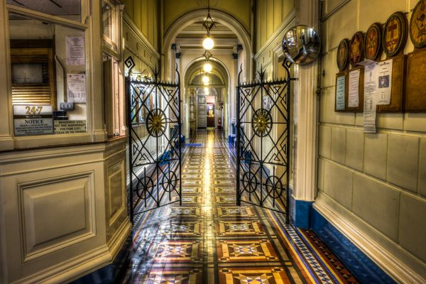 Freemasons Grand Lodge corridor