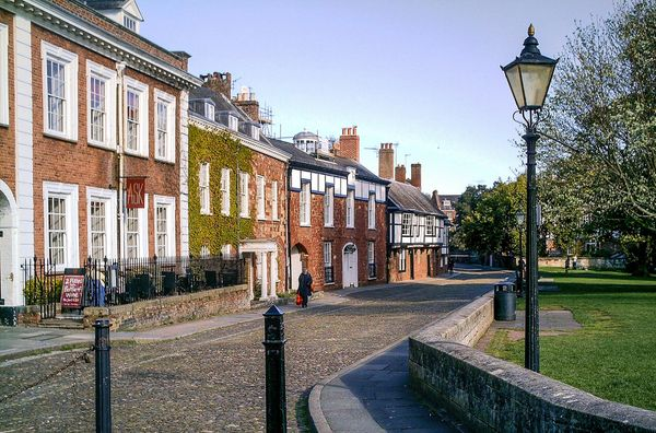 CATHEDRAL CLOSE EXETER DEVON