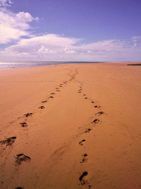 WHEN OUR PATHS CROSSED BEACH FOOTPRINTS 2021 EDIT