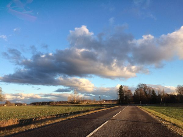 Latvia road nature