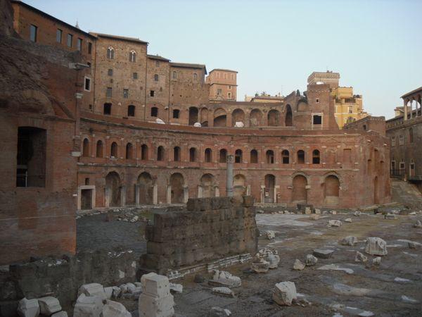 Rome sunset on Roman Forum