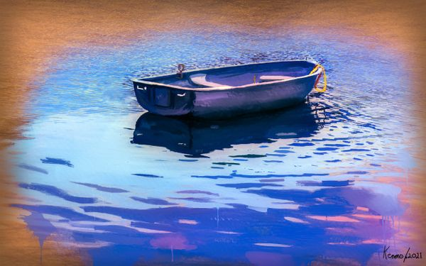 Boat in the Water Late in the Day